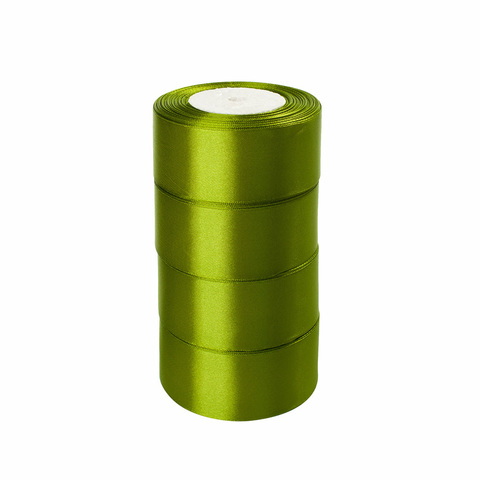 Лента атласная (размер:40мм х 25 ярдов) Цвет: светло-зеленый