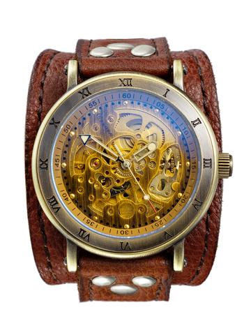 Часы скелетоны мужские механические Gladiator YOURTIME
