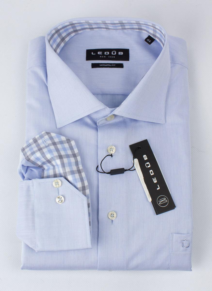 Рубашка Ledub modern fit 0132825-120-130-000-MF-Blue