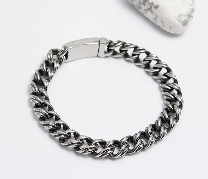 BM496 Красивый мужской браслет цепь с необычными звеньями (23 см) фото 04