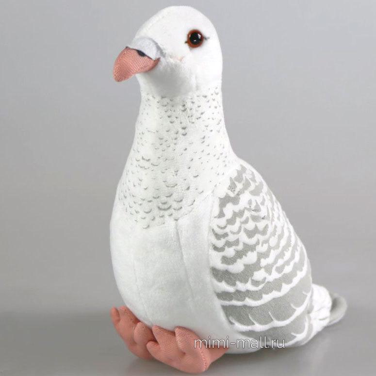Мягкая игрушка Голубь белый 22 см (Leosco)