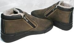 Зимние ботинки мужские кожаные с мехом Rifellini Rovigo 046 Brown Black