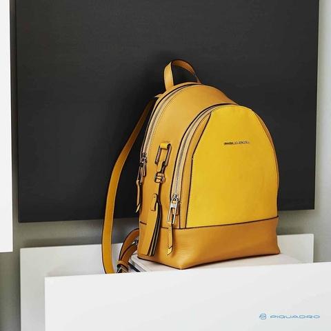 Женский рюкзак Piquadro кожаный желтый