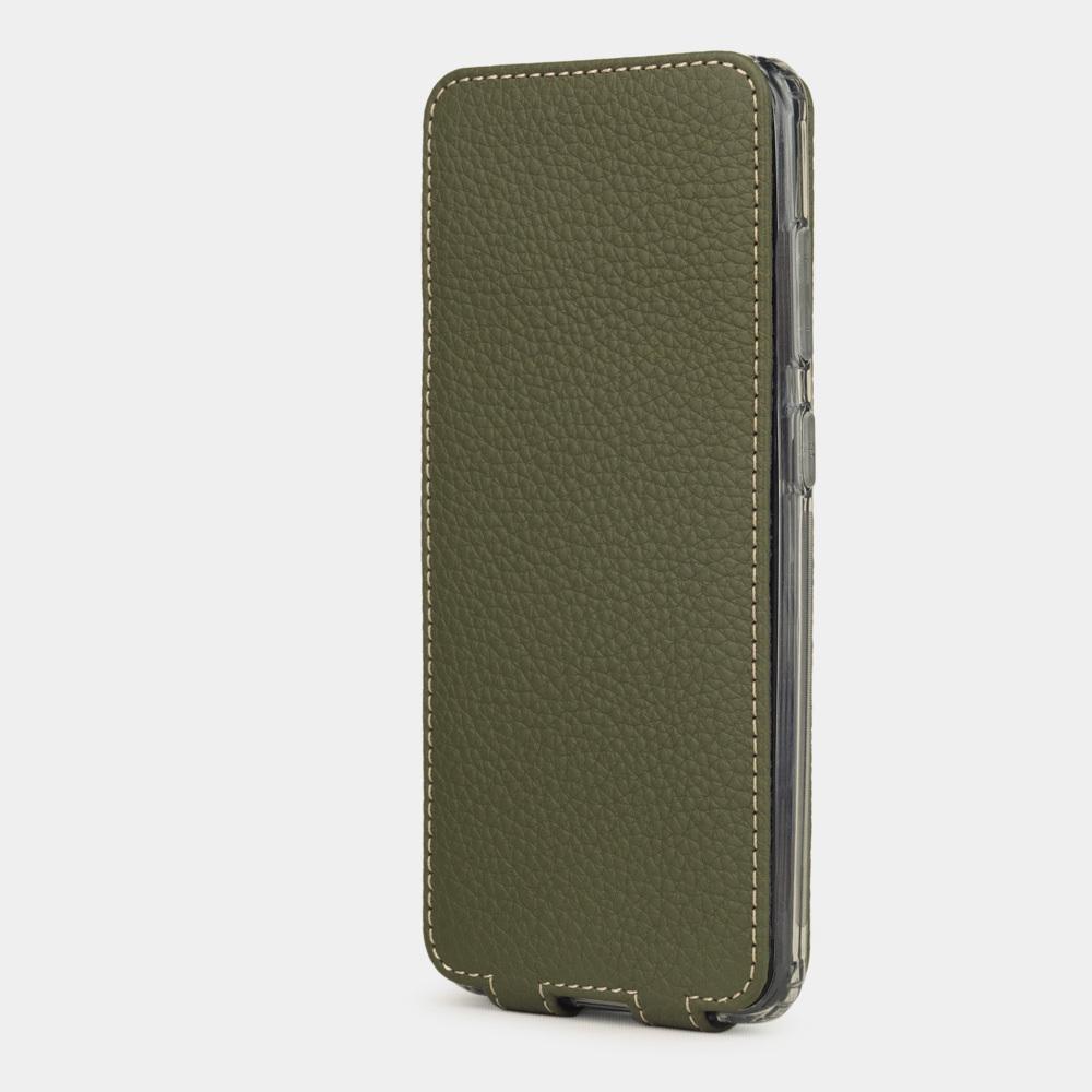 Чехол для Samsung Galaxy S20+ из натуральной кожи теленка, зеленого цвета