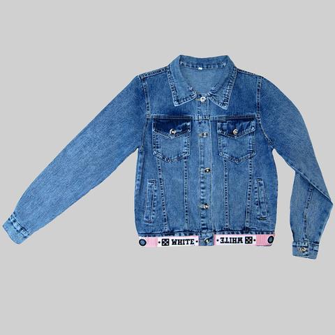 Пиджак джинсовый девочке (10-16) 210312-АВ2261-1