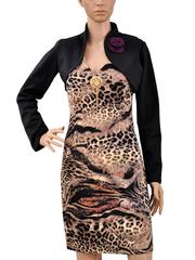923 платье бежево-черное