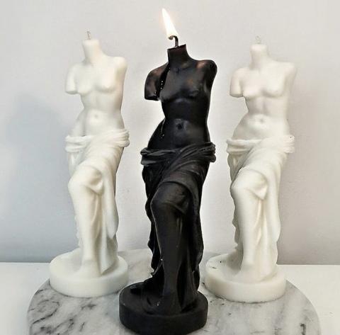 La Van De Свеча из натурального воска Венера черная Natural Wax Venus Black Candle