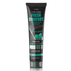 КРЕМ-ГЕЛЬ для комфортного бритья, 100 мл Vitex For Men Fresh Comfort