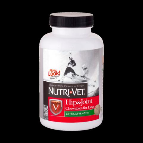 Nutri-Vet Hip&Joint Extra. Зв'язки і суглоби екстра 2 рівень МСМ для собак.