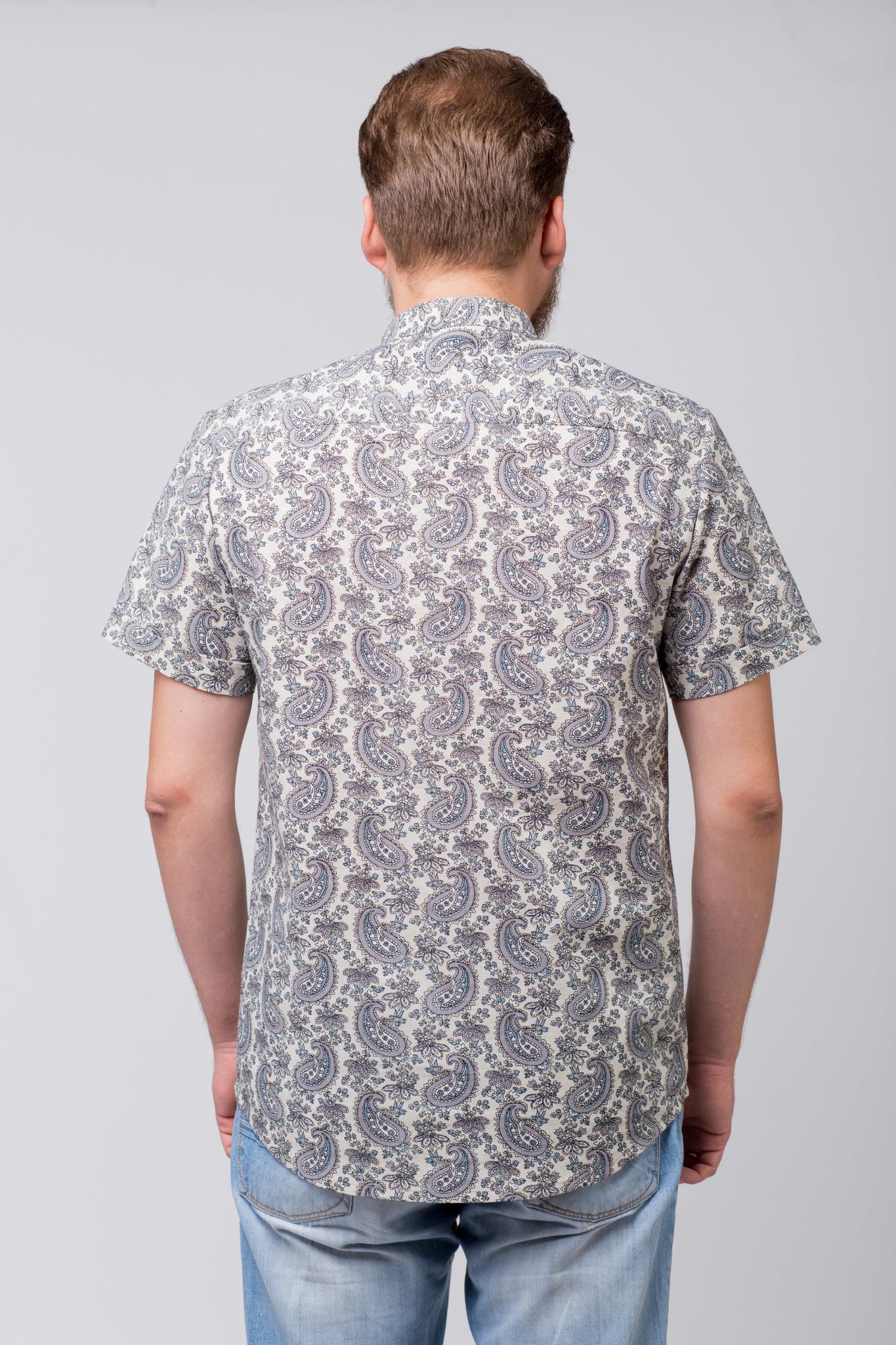 Рубашка льняная Огурцы вид сзади