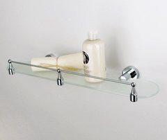 Полка в ванную WasserKRAFT Donau K-9444 стеклянная с бортиком