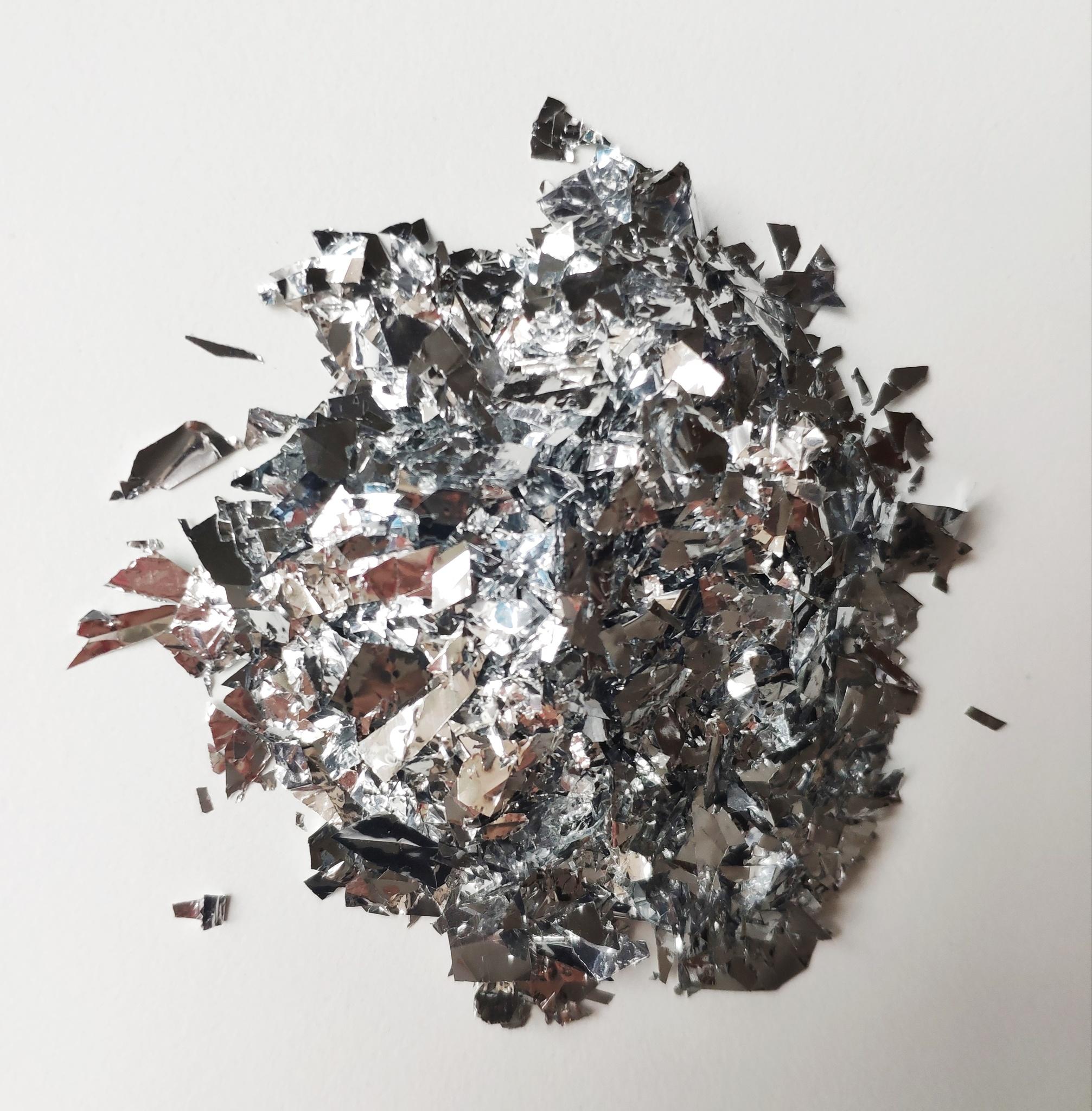 Слюда блестки для слайма серебро
