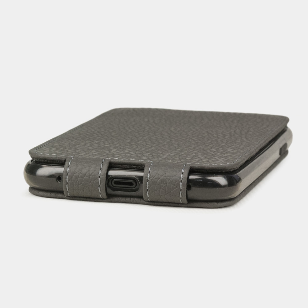 Чехол для iPhone 11 из натуральной кожи теленка, серого цвета