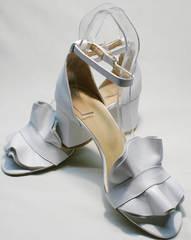 Босоножки белые на каблуке женские Ari Andano K-0100 White