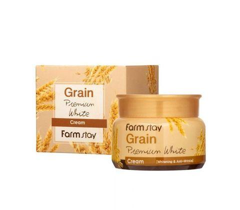 Осветляющий крем с маслом ростков пшеницы  FARMSTAY  Grain Premium White Cream 100 гр.