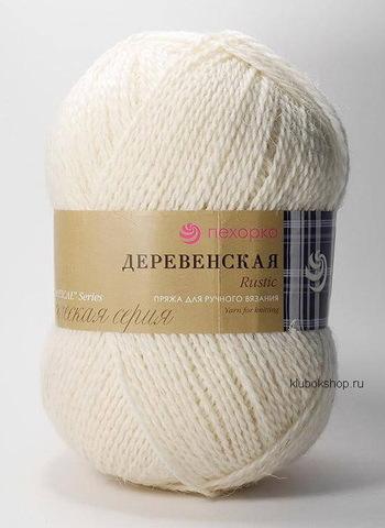 Пряжа Деревенская (Пехорка) 01 Белый, фото
