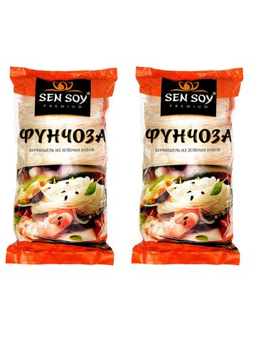 Вермишель Фунчоза Sen Soy Premium 2 штуки по 200 гр 1кор*1бл*2шт