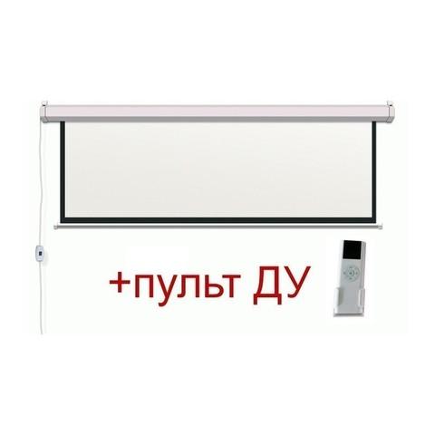 Экран электрический моторизированный с ду (1 : 1) 160x160 см  диагональ 89''