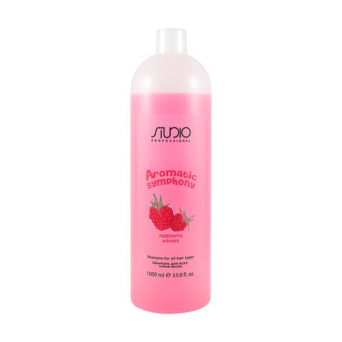 Шампунь для всех типов волос Малина 1000 мл. Kapous Studio