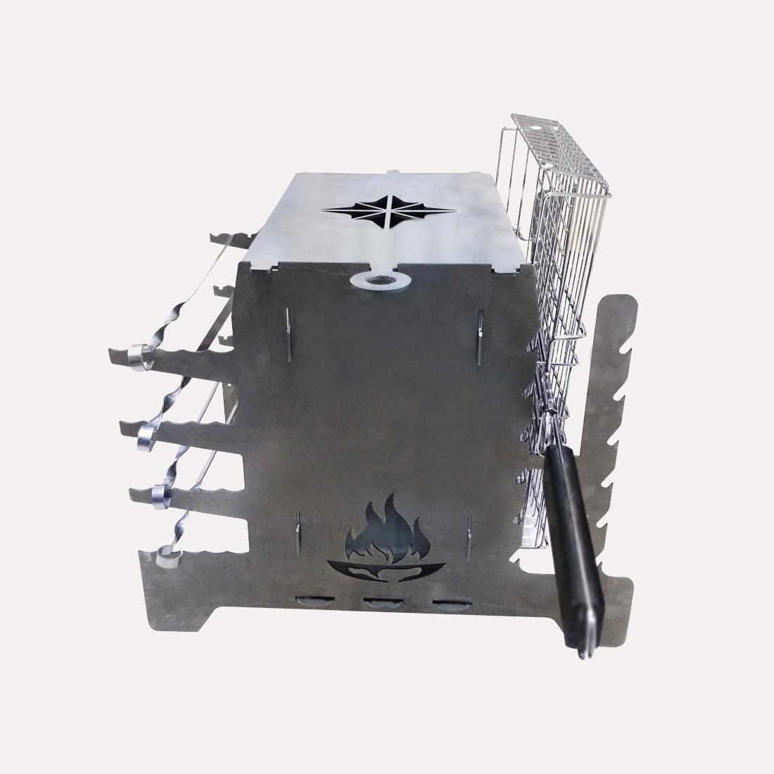 Вертикальный мангал-очаг КУЗЬМА