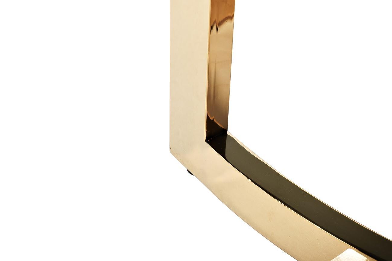 Столик журнальный золотой с темным стеклом (47ED-ET062GOLD) Garda Decor
