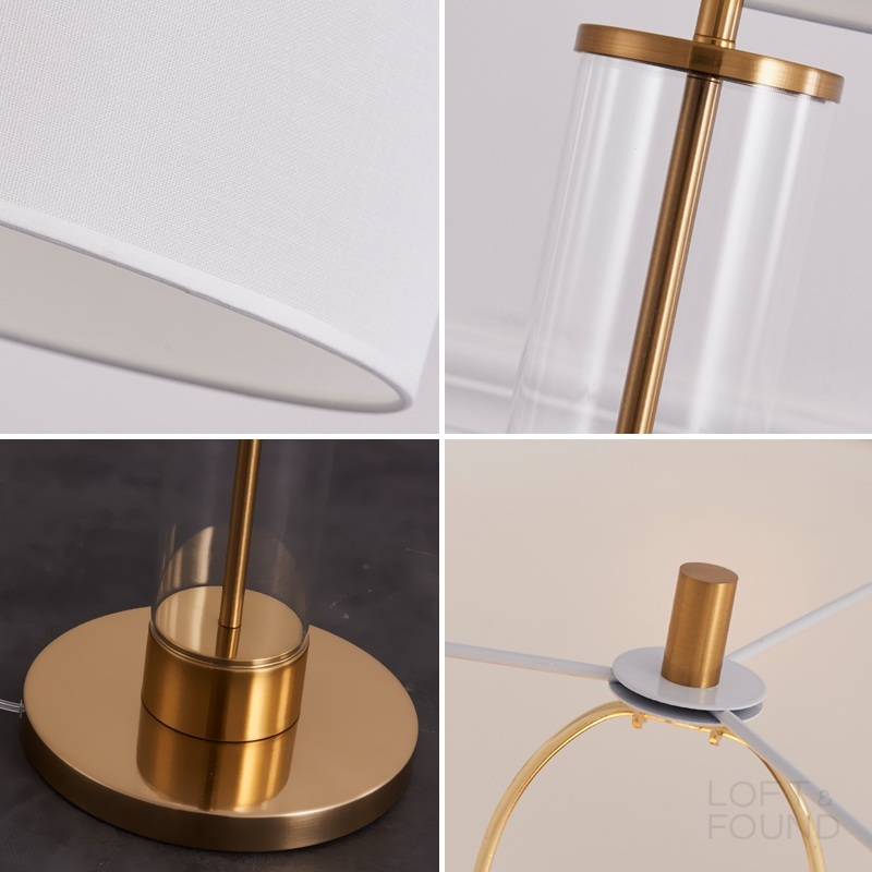 Торшер French Column Glass Floor Lamp