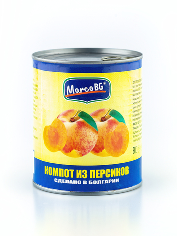 Компот из очищенных персиков  ( ж/б), 540 гр.