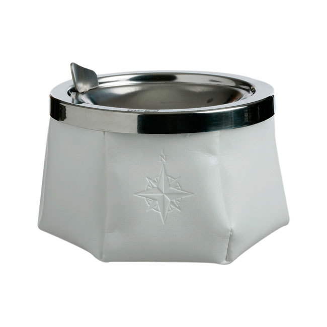 ASHTRAY WITH LID – WHITE, WINDPROOF