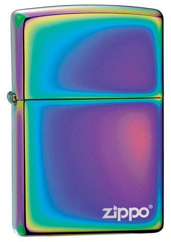 Зажигалка Spectrum Zippo Logo с покрытием Spectrum, латунь/сталь, разноцветная, глянцевая123