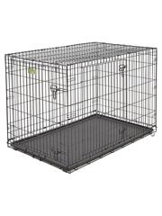Клетка MidWest iCrate 122х76х84h см 2 двери черная