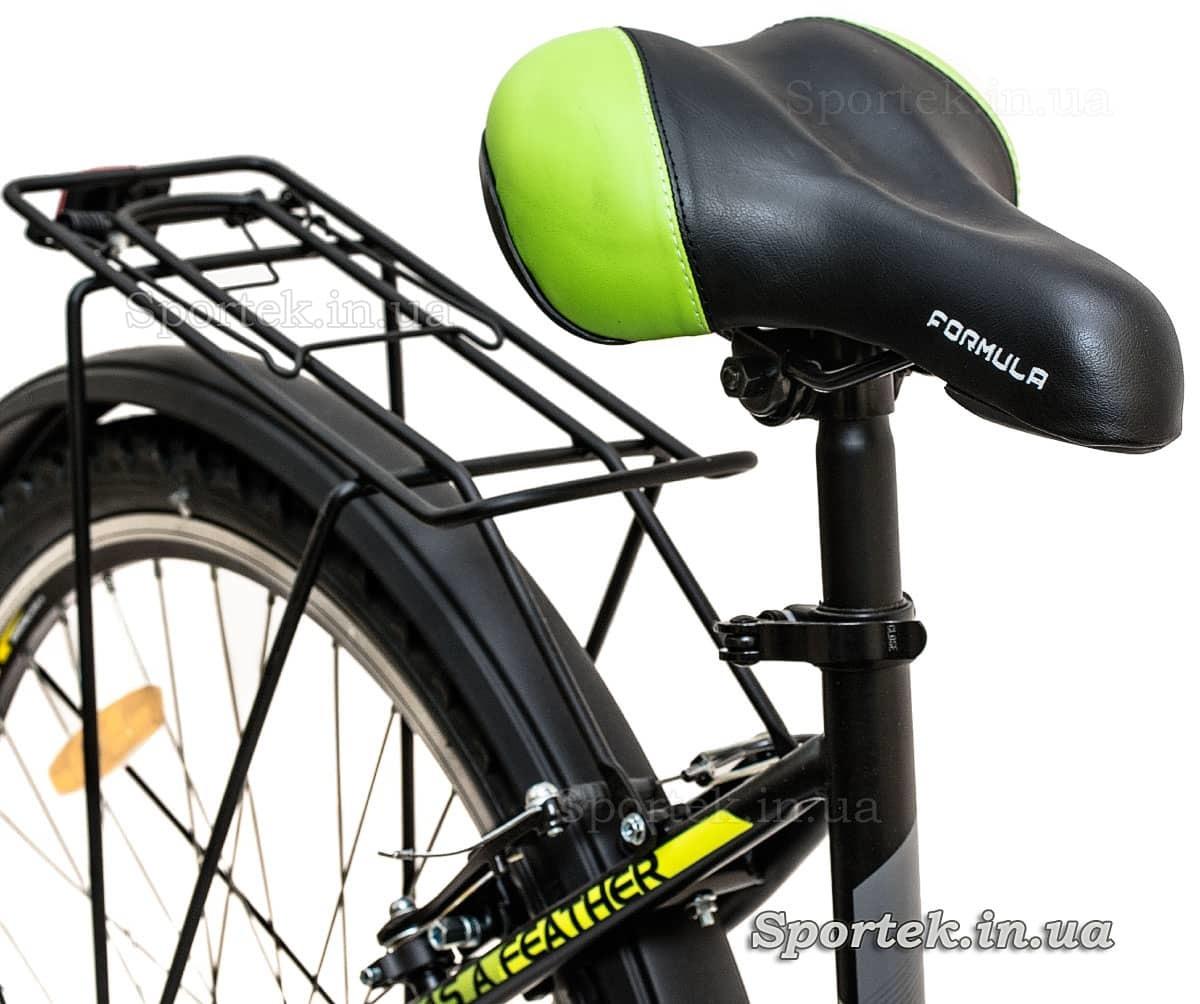 Сидение и багажник женского городского велосипеда Formula Breeze 2016