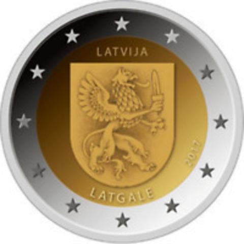 2 евро 2017 Латвия - Латгале.