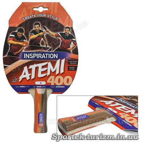Ракетка для настільного тенісу Atemi 400 INSPIRATION