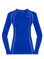 Bergans термобелье футболка 1965 Fjellrapp Lady Shirt Dark Royal Blue