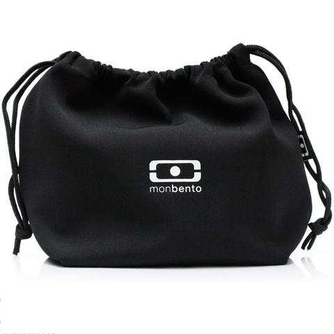 Комплект denim черный ланч бокс, бутылка, столовые приборы и мешочек