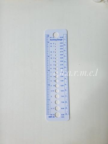 Линейка для измерения диаметра и номера спиц, пластик