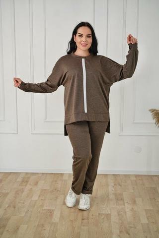 Костюм Glamour брюки+блузка однотон (В21)