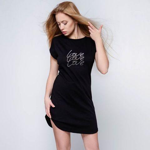 Черная домашняя сорочка Catalina