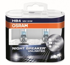 Лампа Osram HB4 Night Breaker Unlimited (2шт.) DuoBox 12v-51we (P22d)