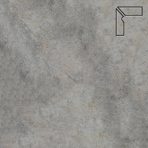 Interbau - Nature Art, Quarz grau/Серый, цвет 119 - Клинкерный плинтус ступени левый