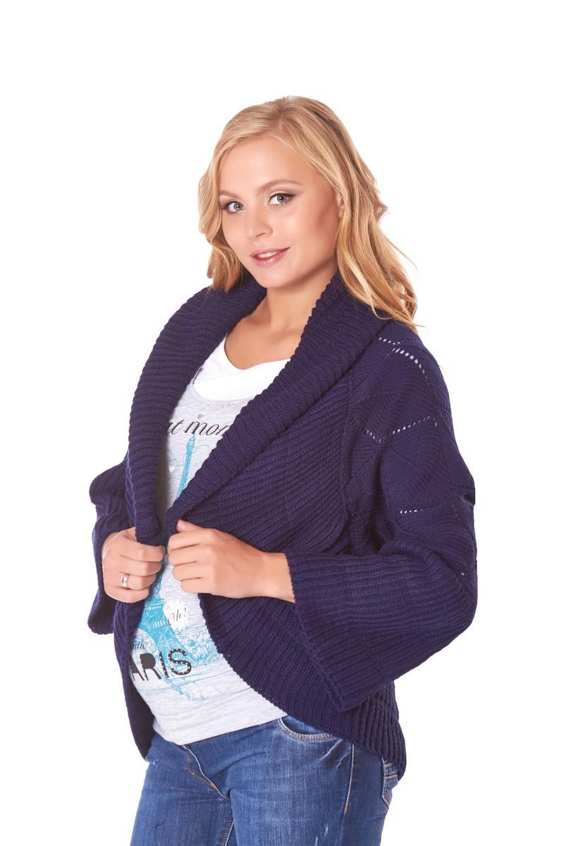 Кардиган для беременных 07614 синий