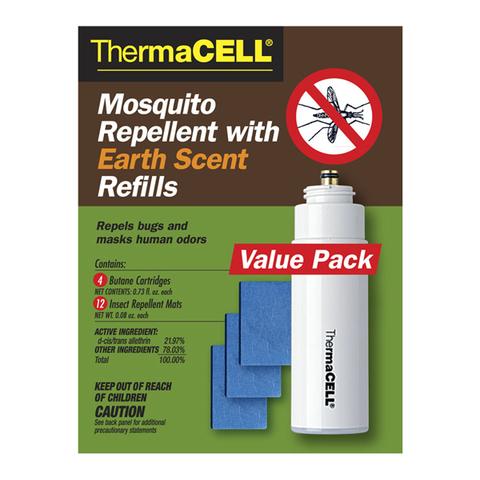 Набор запасной Thermacell с запахом земли (4 газовых картриджа + 12 пластин)