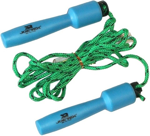 Скакалка верёвочная с пластиковыми ручками Joerex