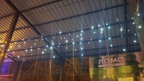 Светодиодная гирлянда уличная бахрома 5*0,6 144 LED хол бел с мерцанием черн провод
