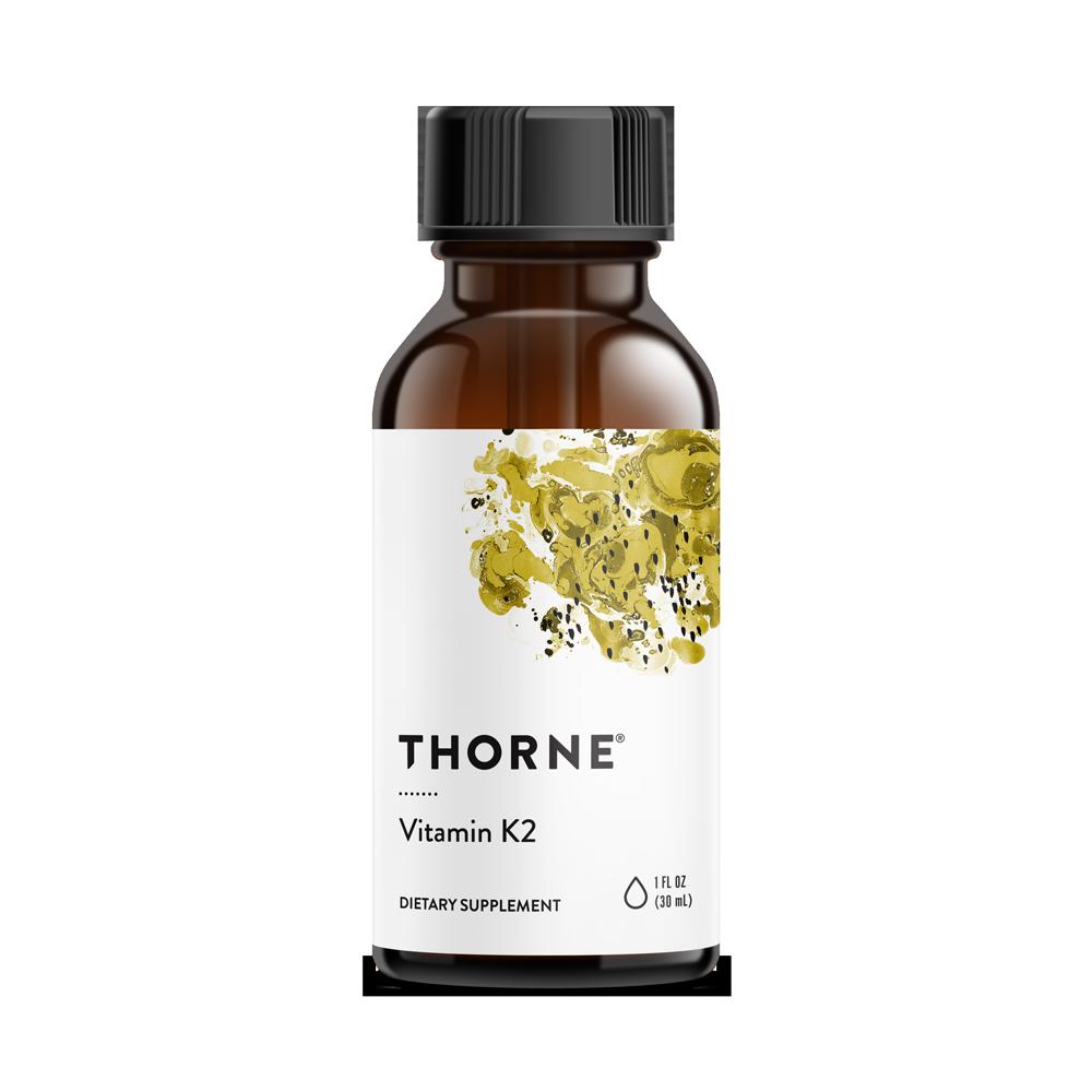 Витамин K2, Vitamin K2, Thorne Research, 1 жидкая унция (30 мл)