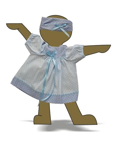 Платье - Демонстрационный образец. Одежда для кукол, пупсов и мягких игрушек.