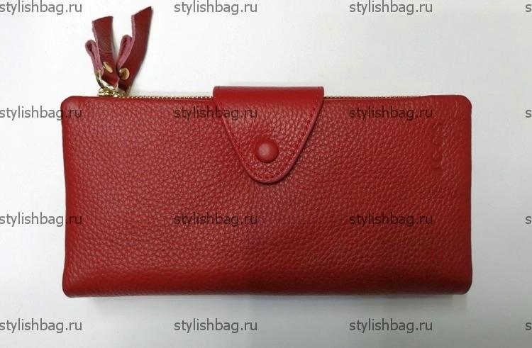 Женский красный кошелек из кожи JCCS j-3060red