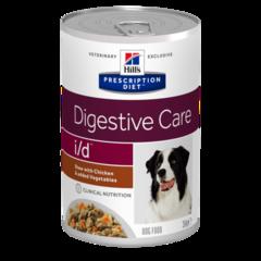 Ветеринарный корм рагу для собак Hill's Prescription Diet i/d Digastive Care, лечение заболеваний ЖКТ, с курицей и овощами