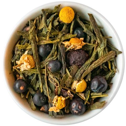 Зеленый чай стройный силуэт