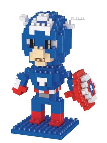 Конструктор Wisehawk & LNO Капитан Америка 210 деталей NO. 024 Captain America Gift Series